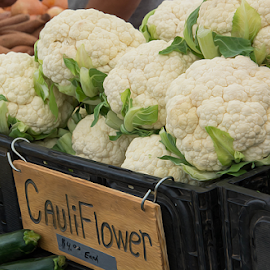 Cauliflower by Michael Moriarty - Food & Drink Fruits & Vegetables ( farm, vegan, farmers market, farmer, cauliflower, food, vegetables, healthy, health )