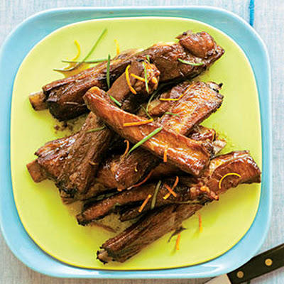 Roasted Pork Spareribs with Citrus-Soy Sauce