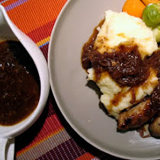 Guinness Chops with Onion Gravy