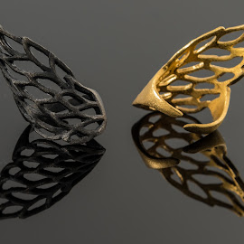 Rings4 by Dimitris Stenidis - Artistic Objects Jewelry ( studio, mirror, dsphotography, jewells, athens, jewelry, stenidis, rings, gold, dimitris, black,  )