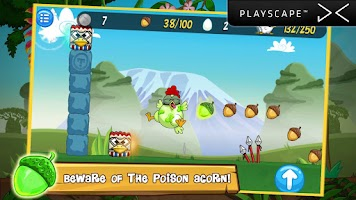 Screenshot of Ninja Chicken Adventure Island