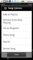 Screenshot of bTunes Music Player