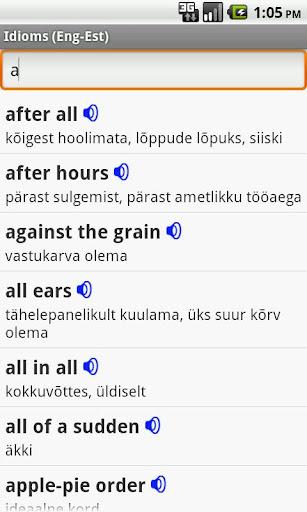 English-Estonian Idioms