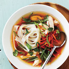 Spicy Asian Chicken and Noodle Soup