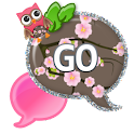 GO SMS - Cherry Blossom Owl icon