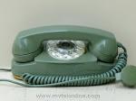 Desk Phones - Western Electric 702B Green Princess