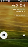 Screenshot of JellyBean Free Lock screen