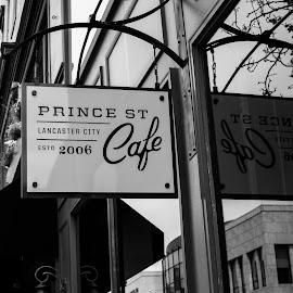 Prince St. Cafe by Troy Snider - City,  Street & Park  Markets & Shops ( urban, reflection, window, cafe, cityscape, city )