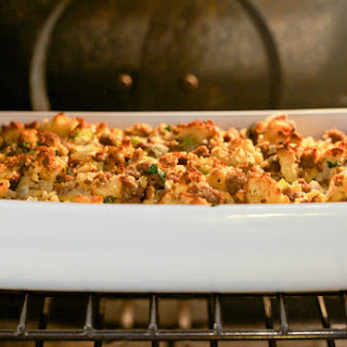 """Cornbread"" and Sausage Stuffing (Grain-Free, Gaps, Paleo)"
