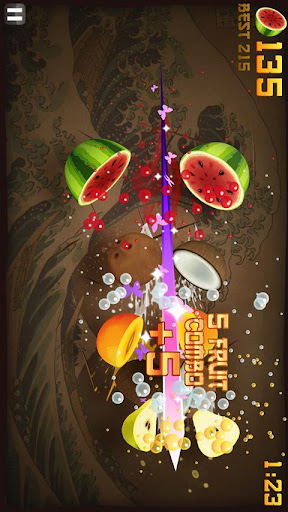 fruit-ninja-thd-free for android screenshot