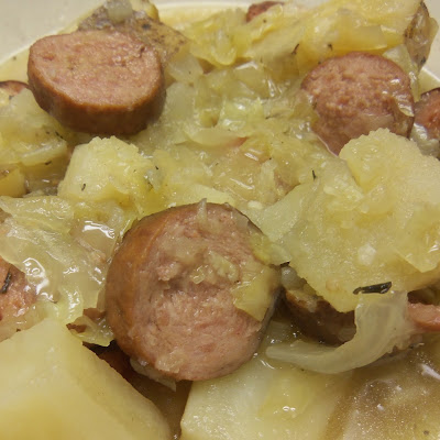 Crockpot Sauerkraut and Kielbasa