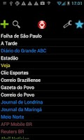 Screenshot of Brazilian Newspapers
