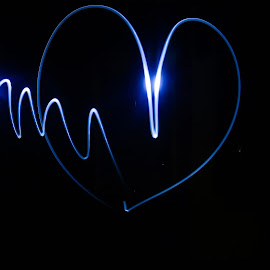 luv u by Amol Patil - Abstract Light Painting ( light painting, symbol, luv )