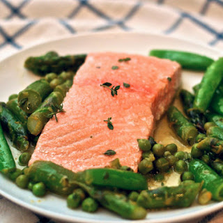 Olive Oil–Poached Salmon