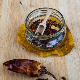 hot and spicy by Nina Kriznic - Food & Drink Ingredients ( spice, spicy, chilly, food photography, kitchen, spices, ingredients, paprika, chillies, foods, food, food shots, hot, ingredient, chilli,  )