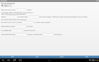 Screenshot of Learn English Intermediate