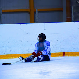 Hockey is a hard time by Jerome Taris - Sports & Fitness Ice hockey ( hockey, russia, blue, rest, difficult, hard )