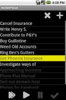 Screenshot of ActionFocus