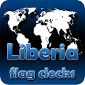 Liberia flag clocks icon