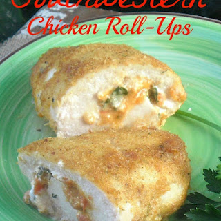 SOUTHWESTERN CHICKEN ROLL-UPS