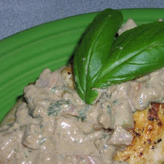 Chicken Breasts With Creamy Basil  Sauce
