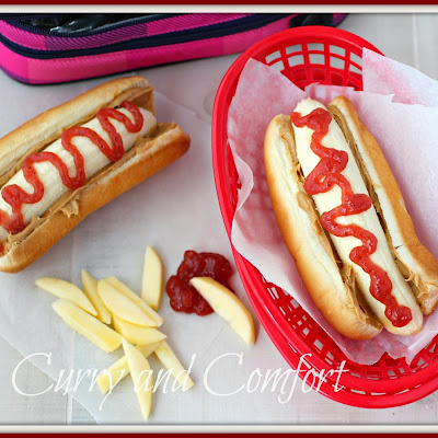 Peanut Butter and Jelly Banana Dog with Apple Fries