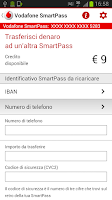 Screenshot of Vodafone SmartPass