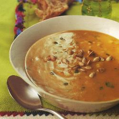 Winter Pumpkin Soup With Rice