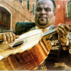 The Guitarist by David Hammond - Digital Art People ( music, mariachi, acoustic, guitarist, musician, guitar, people, entertainment,  )