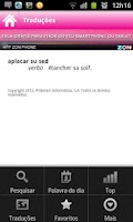 Screenshot of Dicionário Priberam