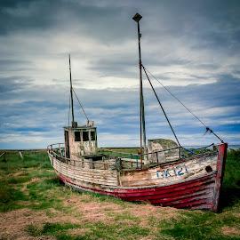 Abandoned Boat Iceland by David Long - Instagram & Mobile iPhone ( iceland, abandoned boat )