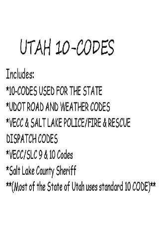 Utah 10 Codes