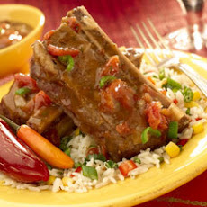 Succulent Short Ribs In Beefy Tomato & Green Chili Sauce