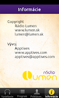 Screenshot of Rádio LUMEN