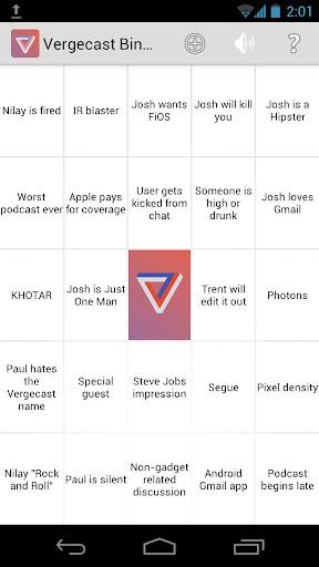 Vergecast Bingo
