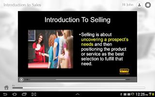 Screenshot of Learn Sales via Videos
