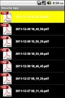 Screenshot of Resume App Pro HD