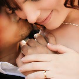 wedding moment by Lucas Strawhorn - Wedding Bride & Groom ( kiss, ring, wedding, bride, groom )