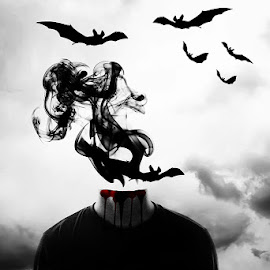 Reborn by Tanveer Rohan - Digital Art Abstract ( bats, digital art, fine art, batman )