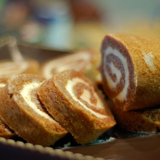 Sweet Potato Roll with Cream Cheese Filling