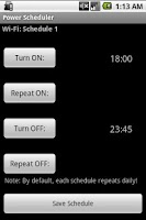 Screenshot of Power Scheduler