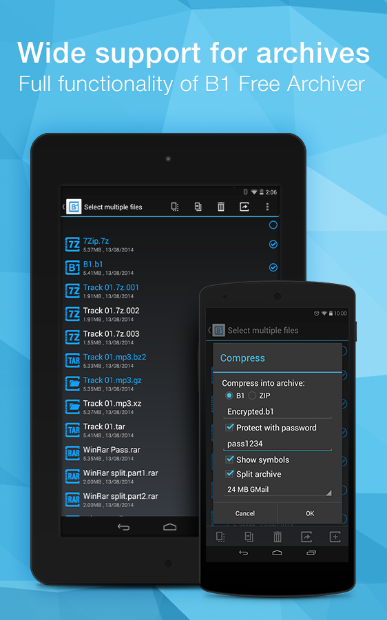 B1 File Manager and Archiver Screenshot 6