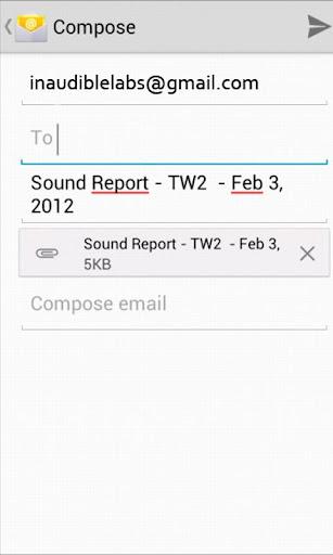 Sound Report Writer