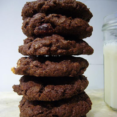 Whole Wheat Choco-Choco Chip Cookies