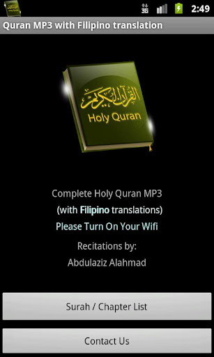 Quran MP3 With Filipino