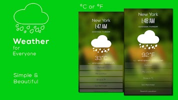 Screenshot of Weather & Clock