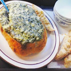 2bleu's Spinach and Artichoke Dip With Bacon