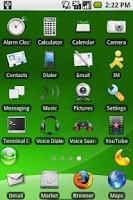 Screenshot of aHome Theme: openSUSE