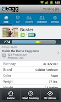 Screenshot of Tagg—The Pet Tracker™