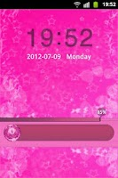 Screenshot of GO Locker Theme Pink Cute Star